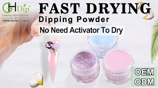Chrome Nail Effects Ombre Nails by Fast Drying Dip Powder Nails Art