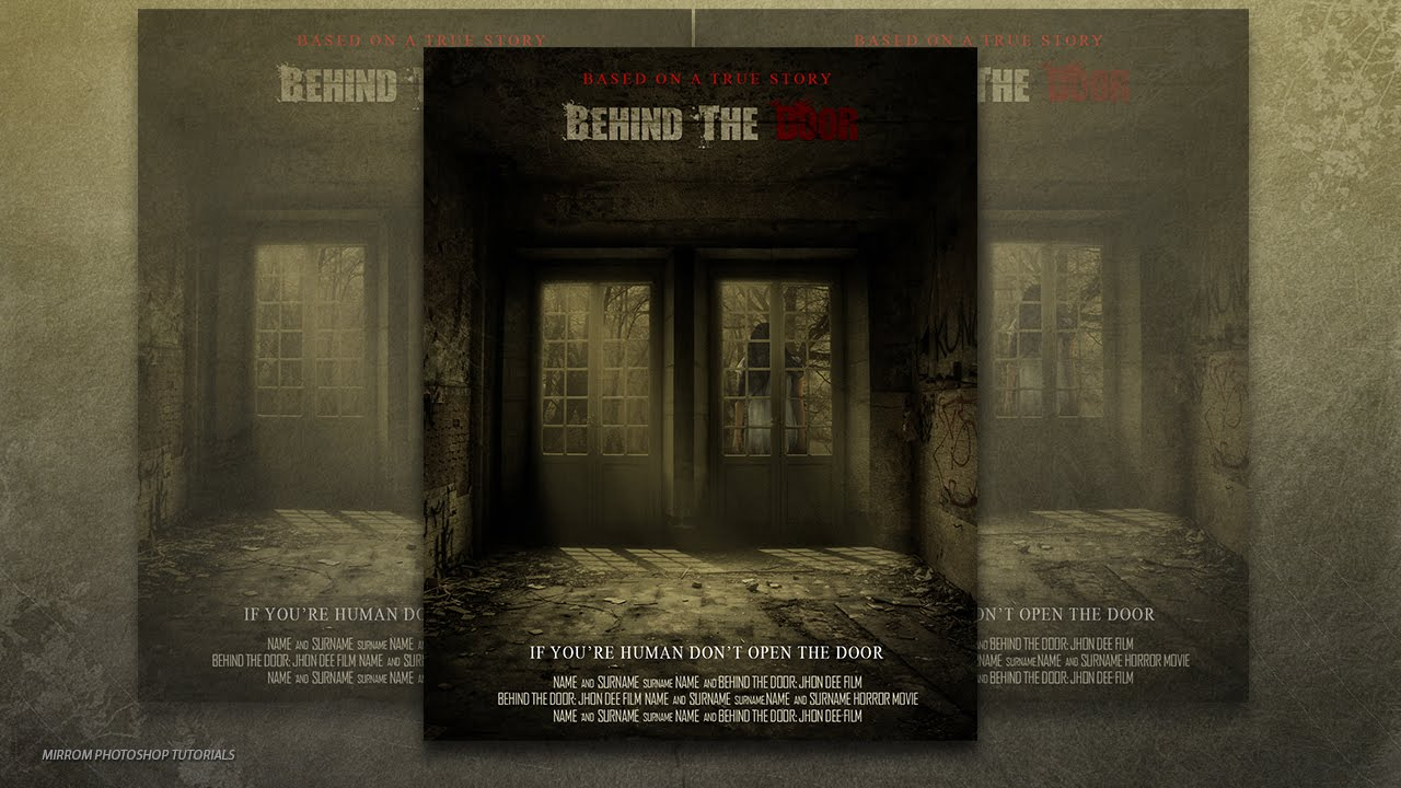 Photoshop CC Tutorial - Create a Behind The Door Horror Movie Poster - YouTube & Photoshop CC Tutorial - Create a Behind The Door Horror Movie ...