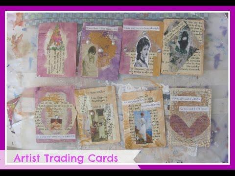 Vintage Ladies ATC'S Cards/ DIY Artist Trading Cards /How to make Artist Trading Cards for Beginners