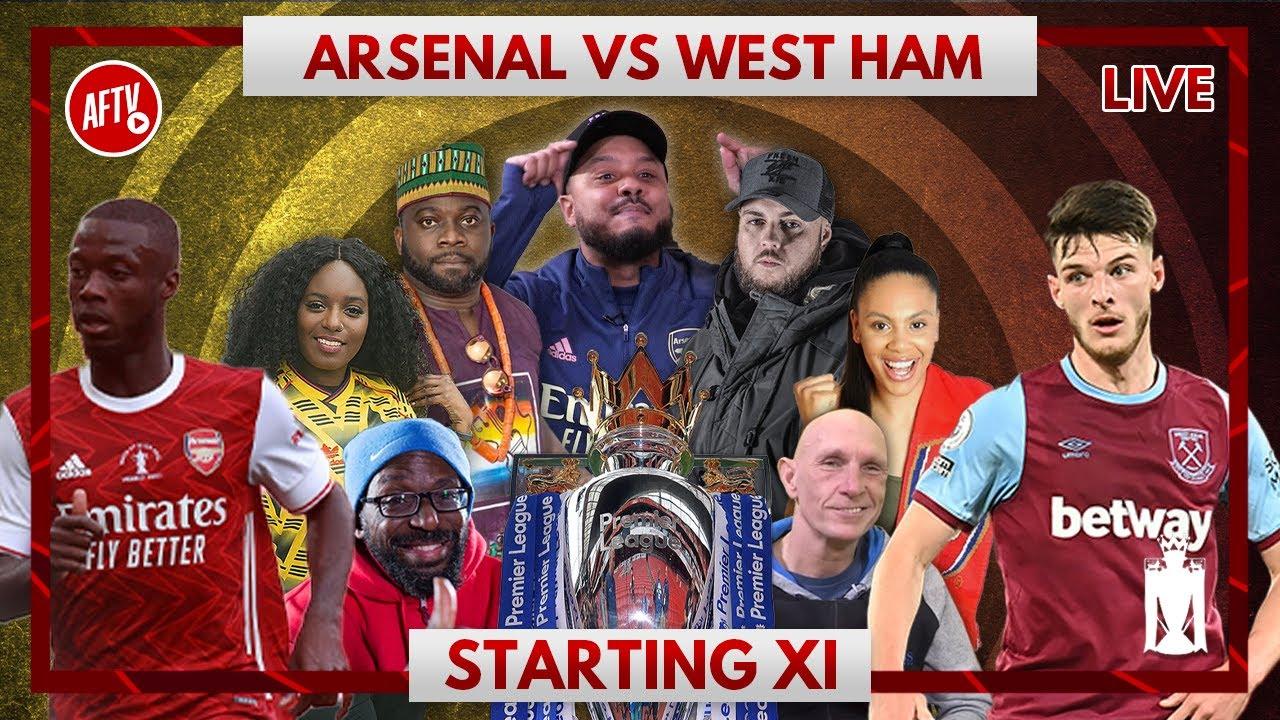 Arsenal vs West Ham | Starting XI Live - YouTube