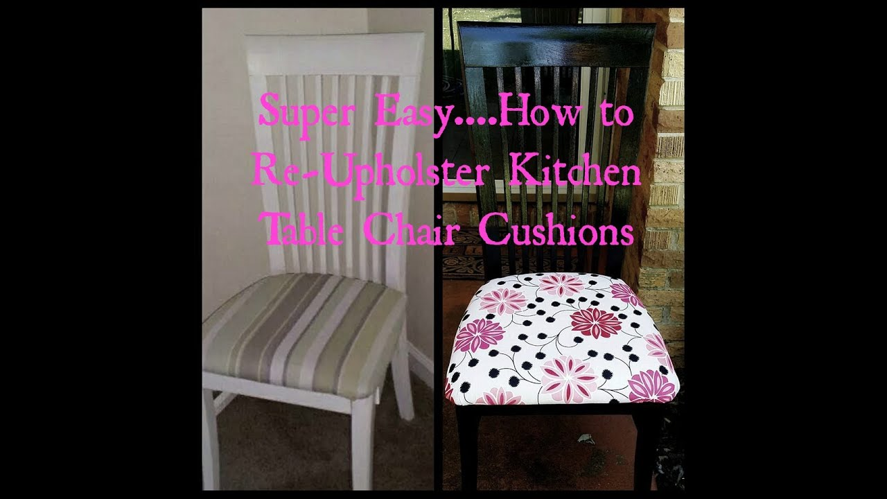 how to re upholstering my kitchen table cushions - Kitchen Table Cushions