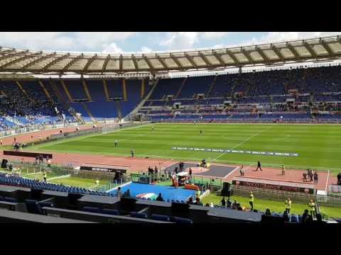 Roma-Lazio - Prepartita e ingresso squadre in campo - Il Giornale di Roma
