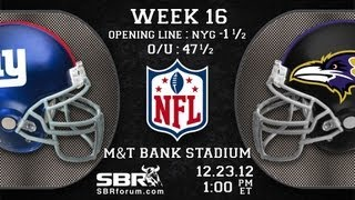 New York Giants vs Baltimore Ravens | 2012 NFL Free Football Picks