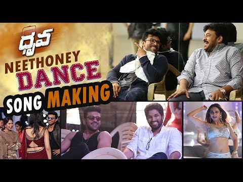 Neethone Dance Song Making || Dhruva Making Video || Ram Charan , Rakul Preet, Hiphop Tamizha