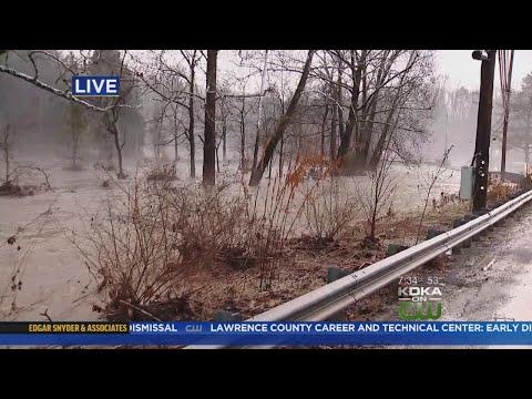 Big Sewickley Creek Floods Its Banks