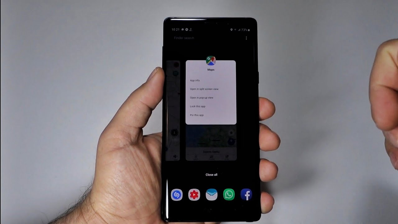 Android 9 & New way to use Split Screen, Pop-up view or Pin App on Note 9 |  see also swap windows