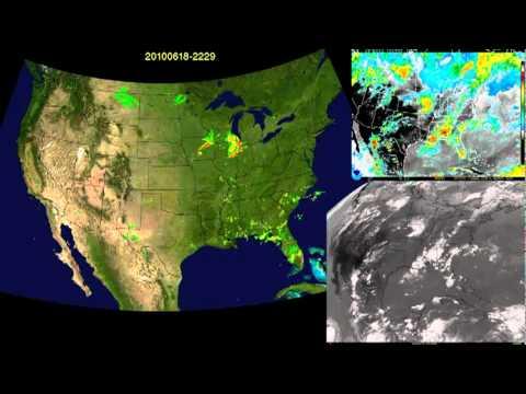 2010 Us Weather Radar And Satellite Animation Youtube