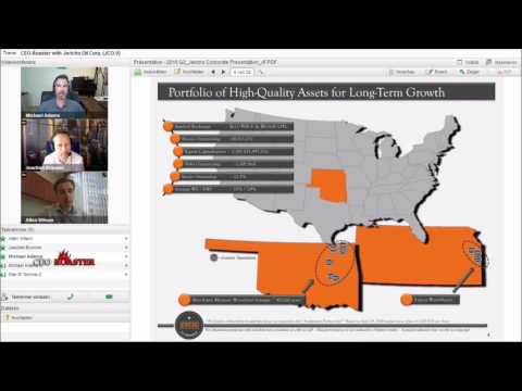 CEO-Roaster Webinar with Allen Wilson, Pres. & CEO of Jericho Oil Corp. (JCO.V)
