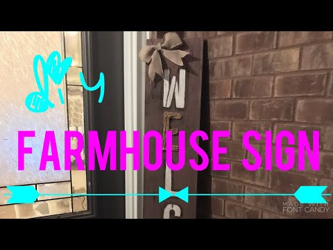 ✨ DIY FARMHOUSE WELCOME SIGN | WOOD CLEAN WITH ME AND PAINT WITH ME ✨
