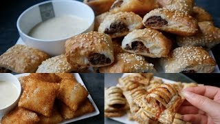 3 traditional DUTCH SNACKS using PUFF PASTRY