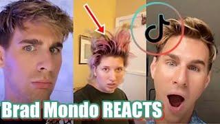 BRAD MONDO Reacts | TikTok Video Compilation of Hairdresser reacts | @bradmondonyc 2020