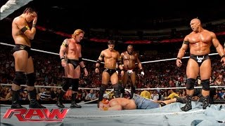 Download The Nexus interrupt the main event and reap destruction: Raw, June 7, 2010 Mp3 and Videos
