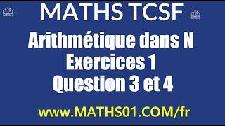 Download Video Math : Arithmétique dans N Exercices 1 Question 3 et 4 MP3 3GP MP4