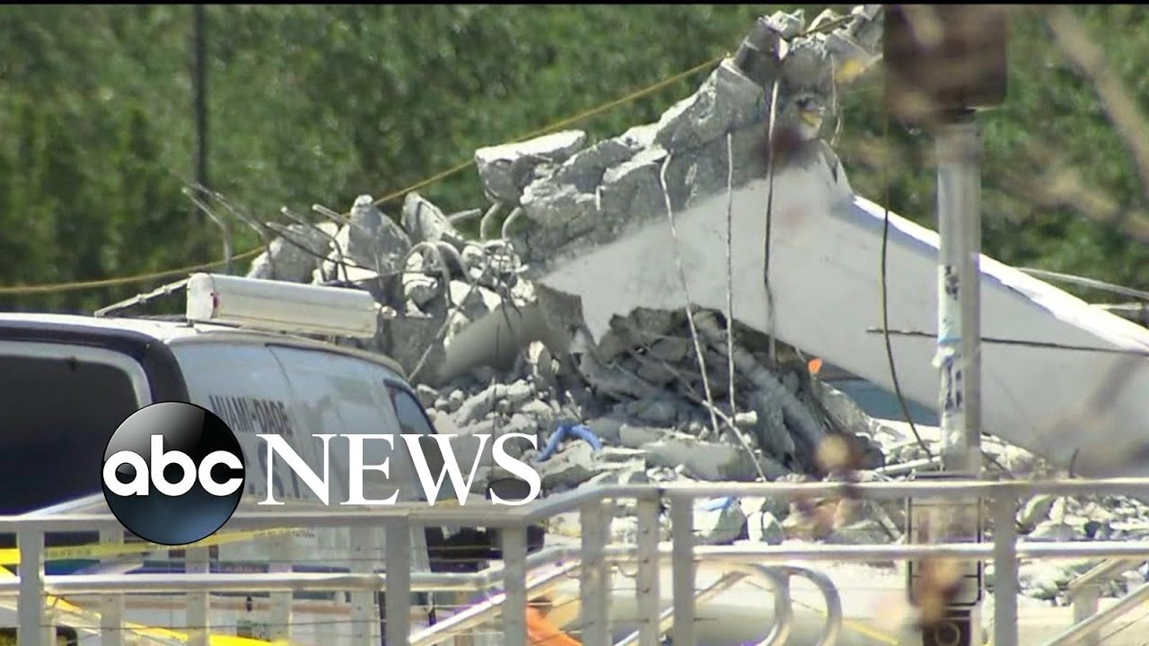 Traffic camera video shows the devastating moment of the Miami bridge collapse