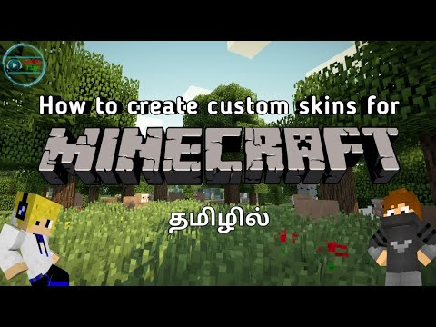 How to create custom skins for Minecraft in Mobile | Tamil