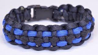 Make a Law Enforcement Police Style Paracord Bracelet - BoredParacord