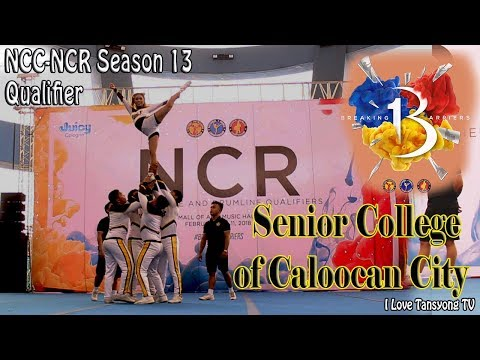 Group Stunt Senior College of Caloocan City-National Cheerleading Championship 13 NCR Qualifier