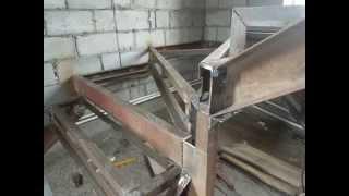 Изготовление металлического каркаса лестницы с забежными ступенями(Это видео создано в редакторе слайд-шоу YouTube: http://www.youtube.com/upload., 2015-07-03T18:29:49.000Z)