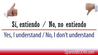 Spanish phrasebook:  I don