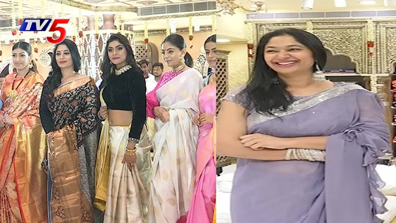 Grand Launch Of Siddheshwari Womens Clothing Stores At Jubilee Hills Tv5 News Youtube