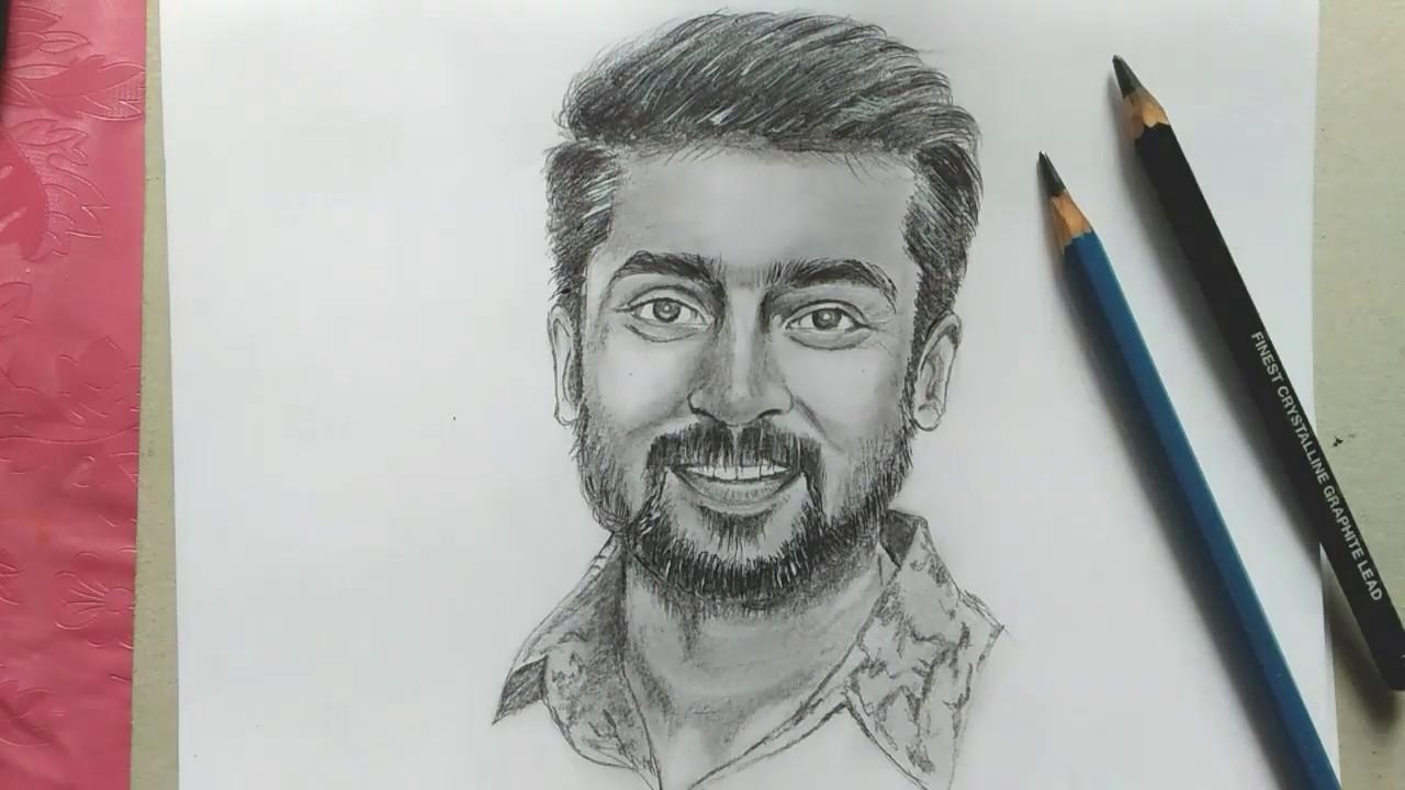 Surya drawing tamil actor surya drawing ngk