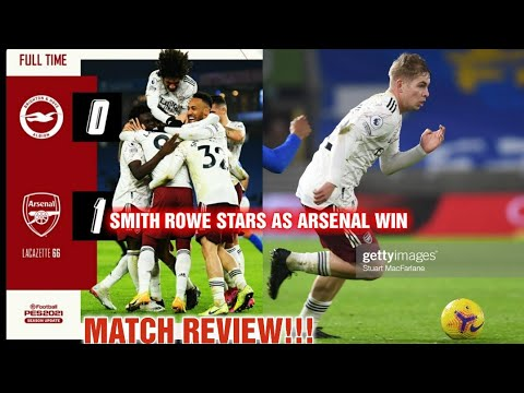 Smith Rowe Is My Man Of The Match Brighton 0 Arsenal 1 Match Reaction Youtube