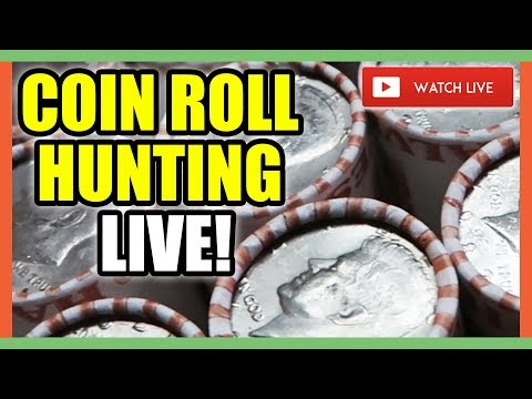 COIN ROLL HUNTING FOR RARE COINS WORTH MONEY!!