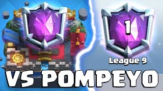 WORST PLAYER VS FIRST ULTIMATE CHAMPION POMPEYO | Clash Royale