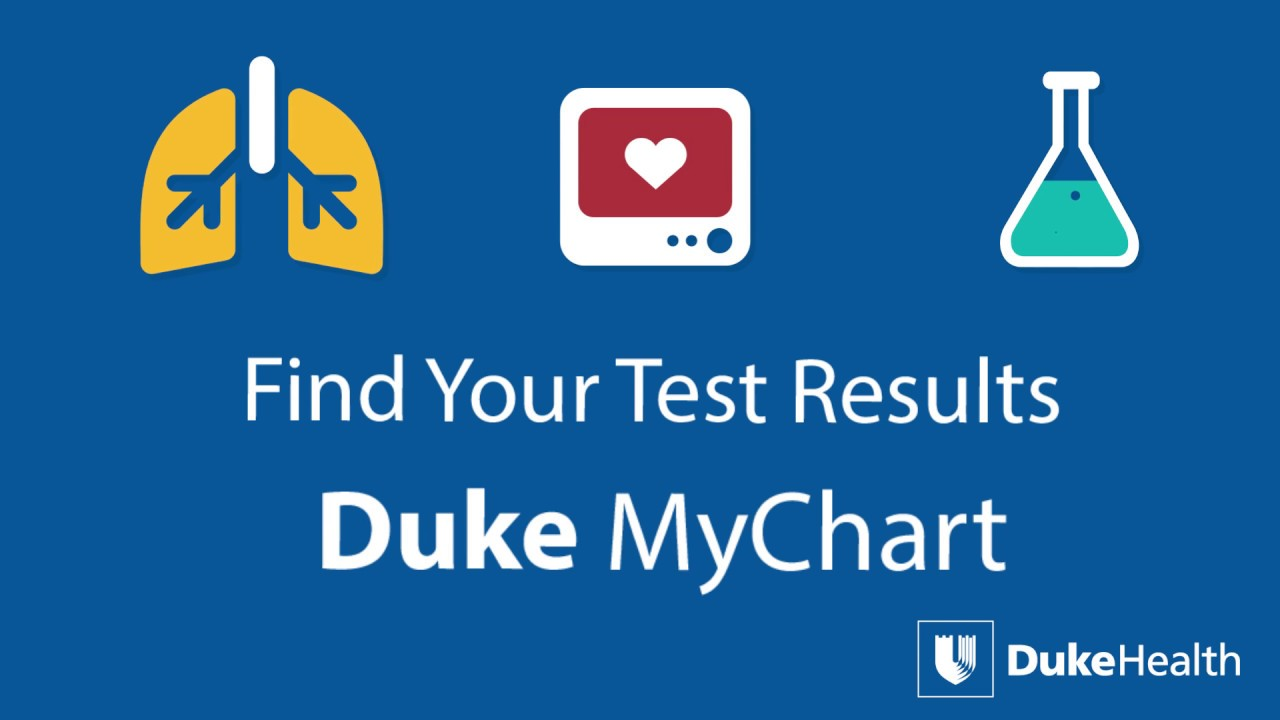View your test results with duke mychart youtube