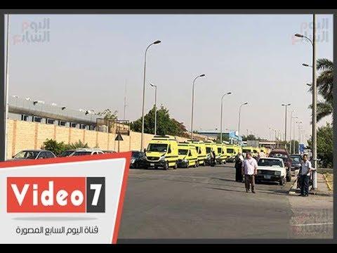 20 سيارة إسعاف تصل مطار القاهرة لنقل رفات الأقباط المصريين  - 17:22-2018 / 5 / 14