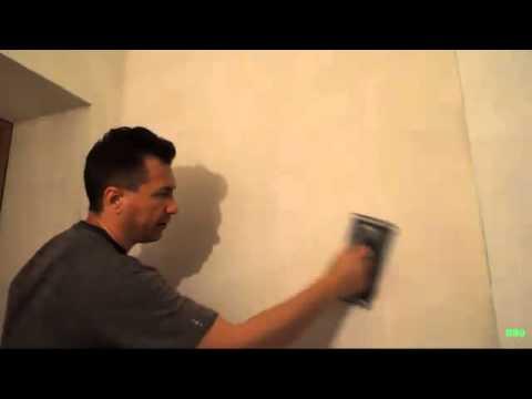 ШЛИФОВАНИЕ  /  СТЕНЫ И  ПОТОЛОК  /  ВРУЧНУЮ  /  manually sanding the walls and ceiling