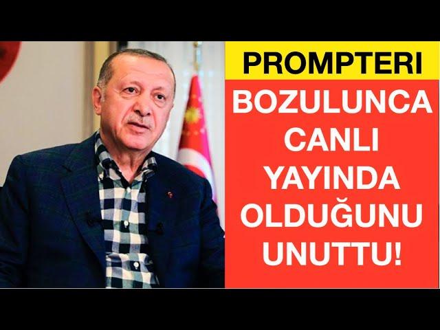 PROMPTERI BOZULAN ERDOĞAN'IN ZOR ANLARI: GERİ AL!