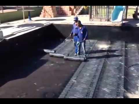 Impermeabilizando Piscina Com Manta Asf Ltica Youtube