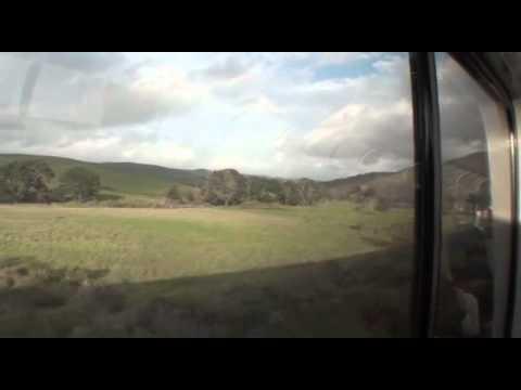 Amtrak Coast Starlight - LA to Oakland - 90 minute video