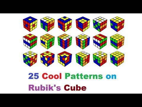 25 Cool Patterns on Rubik's Cube