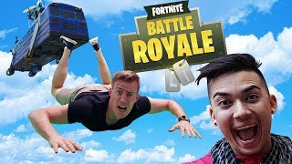 FORTNITE REAL LIFE BATTLE With Jamie Zhu!