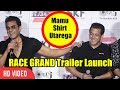 Mamu Shirt Utarega Kya ? | Bobby Deol Funny Moment With Salman Khan | Race 3 Trailer Launch