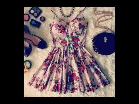 Outfits Vestidos Floreados - YouTube