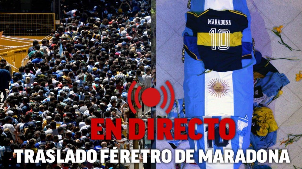 Muere Diego Maradona: Argentina despide a su Ídolo | Velatorio en directo -  YouTube