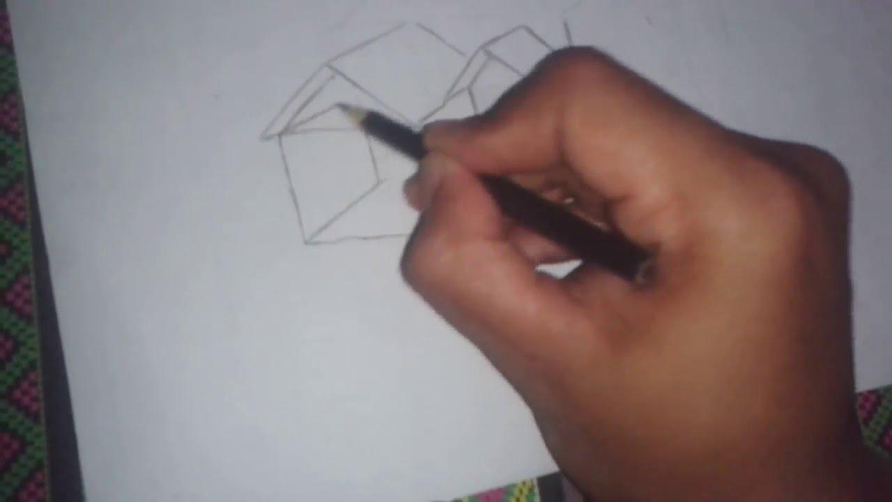 Cara Menggambar Rumah Dengan Pensil