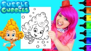 Coloring Bubble Guppies Deema Coloring Page Prismacolor Markers | KiMMi THE CLOWN