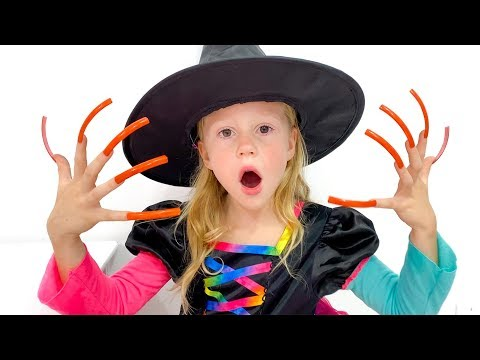 Stacy recoge dulces para Halloween