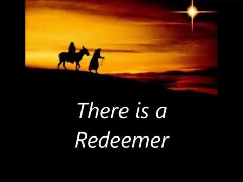 There is a Redeemer with lyrics xmas images  YouTube