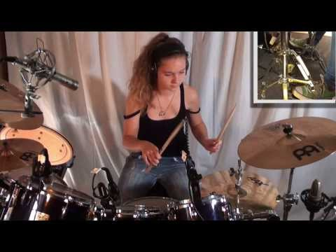 Dream Theater - Metropolis Pt.1: drum cover by 14 year old girl