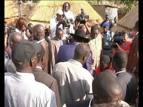 MaximsNewsNetwork: SUDAN: PRESIDENT SALVA KIIR MAYARDIT & VOTING in the SOUTH (UNMIS)
