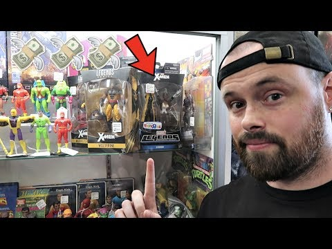 TOY HUNTING AT FLEA MARKETS AND LOCAL TOY STORE OLD RARE MARVEL LEGENDS FOUND