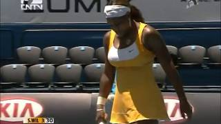 Serena Williams vs Urszula Radwanska 2010 AO Highlights