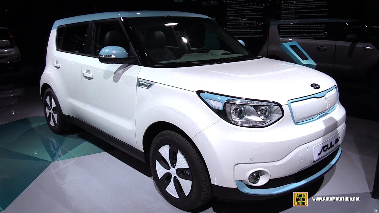 2017 Kia Soul Ev Electric Vehicle Exterior And Interior Walkaround 2016 Paris Motor Show