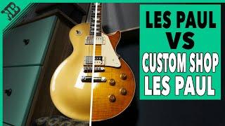 THE GIBSON BATTLE   Les Paul VS Custom Shop Les Paul   Gear Corner