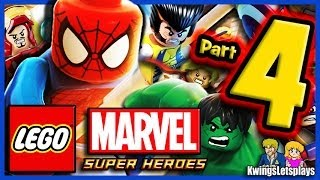 LEGO Marvel Super Heroes Walkthrough Part 4 Ryker's Island Prison Break!